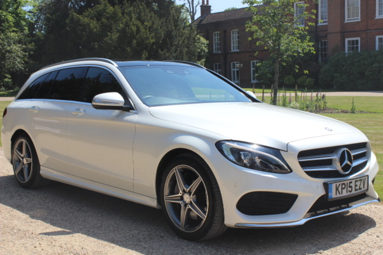 Mercedes-Benz C250 AMG Line (Premium)<br />2015 Metallic White Estate £22,000